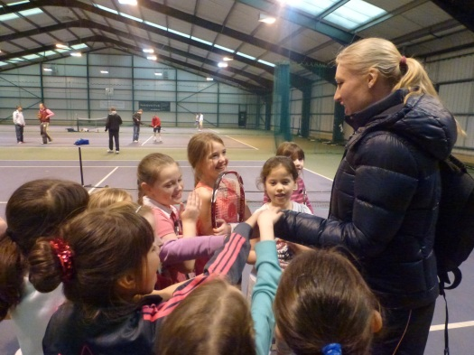 BALLY ALWAYS HAD TIME FOR THE CHILDREN AFTER HER TRAINING[3305]