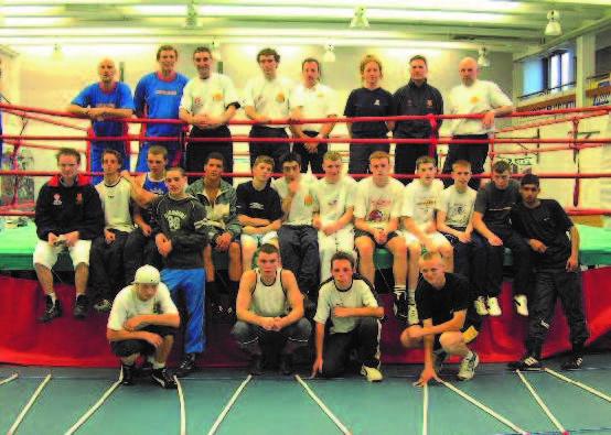 Nino with England boxing team
