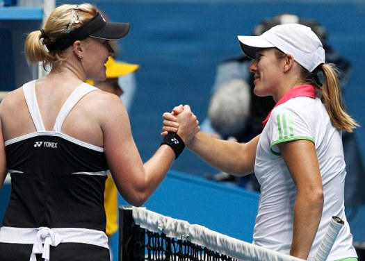 Elena Baltacha, Justine Henin