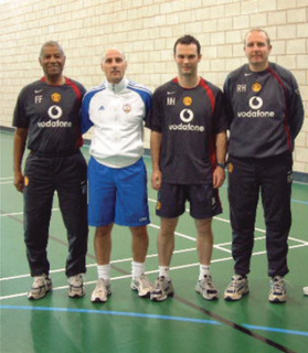 Nino and Man Utd coaches
